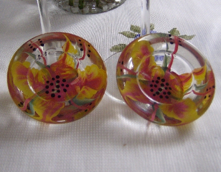 VOTIVES (2) PINK/YELLOW