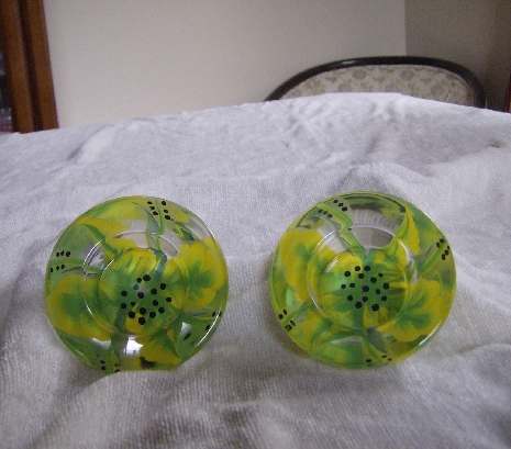 VOTIVES (2) LIME/YELLOW